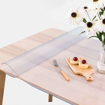 FOOJO桌布 新升級無味透明磨砂軟玻璃 防水防油桌布 茶幾墊餐桌墊臺布墊 60*120cm