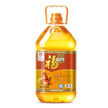 福临门 浓香压榨一级花生油 4L *4件