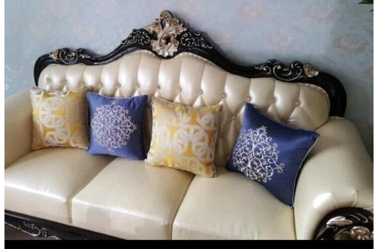 欧洛曼帝沙发真皮沙发实木沙发欧式美式复古沙发法式轻奢沙发客厅1+2+3沙发组合皮色可定制1号色【单面雕花】1+2+3组合