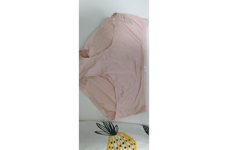 爱慕女士内裤活力纯色系列素色棉质一片式中腰平角内裤四角裤短裤女士内衣内裤AM232651肤色165