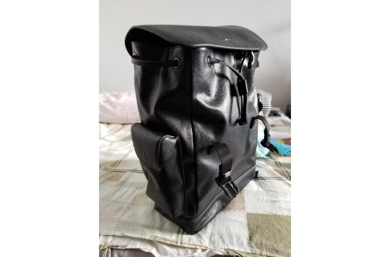 金利来(Goldlion)男士双肩包大容量商务电脑包时尚背包潮流韩版书包FA194003-181蓝