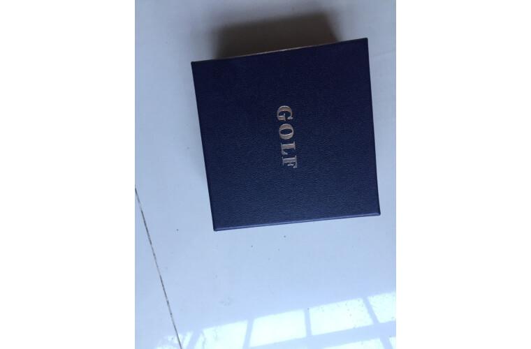 高尔夫GOLF男士皮带520礼物送男友耐磨自动扣牛皮腰带礼盒黑色110-125CM
