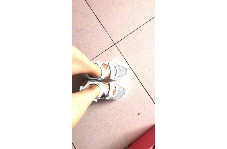 卓履品牌真皮运动凉鞋女2020夏季新款厚底ins潮鞋老爹透气百搭镂空洞洞鞋买一双可以送三双颜色的鞋带37