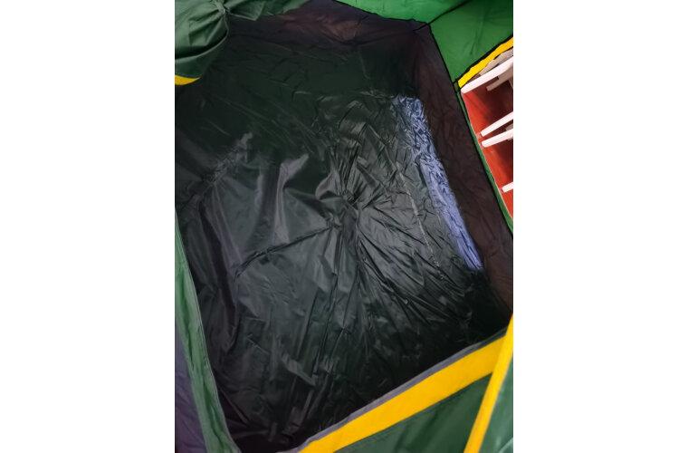 骆驼帐篷户外3-4人全自动帐篷速开防雨野营露营帐篷草绿色