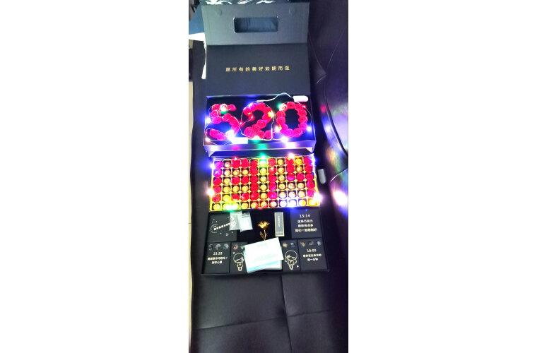 生日礼物女生520礼物送女友情人节创意实用礼物送女朋友老婆女孩浪漫表白套装项链礼品礼盒入仓配送红色星空款(送灯)