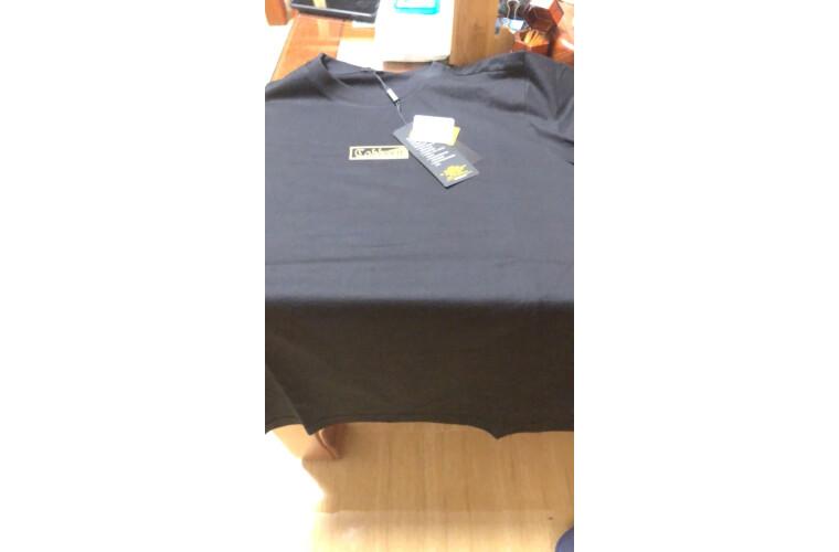 卡宾男装黑色圆领短袖T恤2020春夏简约印花街头潮流时尚青年A煤黑色0148/170/M