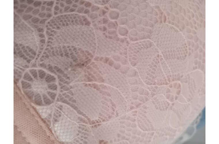 爱贝婷无钢圈内衣文胸套装小胸聚拢性感蕾丝内衣女调整型女胸罩淡粉色(单文胸)36B=80B