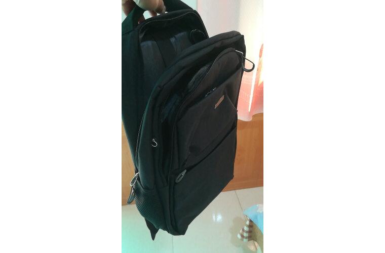 老人头(LAORENTOU)双肩包男士休闲商务15.6英寸笔记本学生电脑包书包男JD804276J0ZY09L1A2黑色