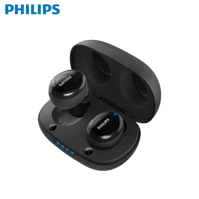 飞利浦(PHILIPS)TAUT102 真无线蓝牙耳机 入耳式音乐耳机 立体声 运动耳机 通话降噪手机通用 黑色