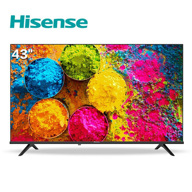 海信(Hisense)43E2F 43英寸 Unibody 悬浮全面屏 一键图搜 高清网络 液晶电视