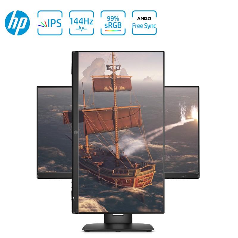 惠普(HP)X24ih 23.8英寸 FHD电竞显示器 IPS 屏 144Hz 微边框 FreeSync Premium升降底座