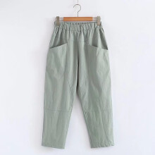 微胖女生,穿高腰喇叭裤显瘦