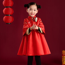 ec14ae86189 儿童唐装冬男童中国风旗袍新年装宝宝加厚女童拜年服