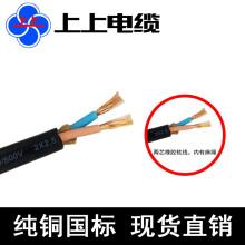 江苏上上电线电缆YZ 2*1/1.5/2.5/4/6平方橡套软电缆 纯铜 国标线 2芯/2x2.5/一米