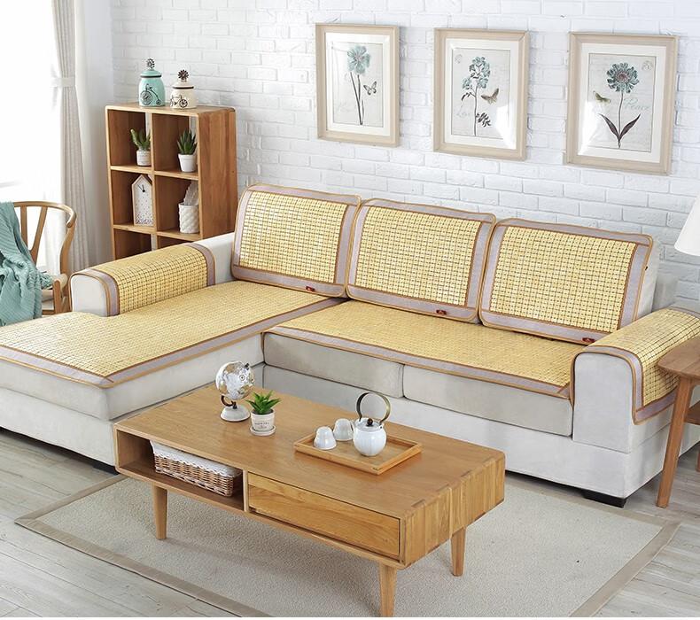 西部水牛沙发垫子麻将凉席红木椅子竹席坐垫防滑夏季可定制01号碳化蕾丝(单牛筋)50*50CM