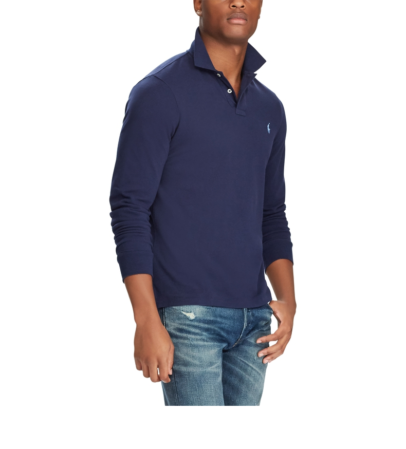 RalphLauren/拉夫劳伦男装经典款纯色网布Polo衫10251-CB82-海军蓝XL