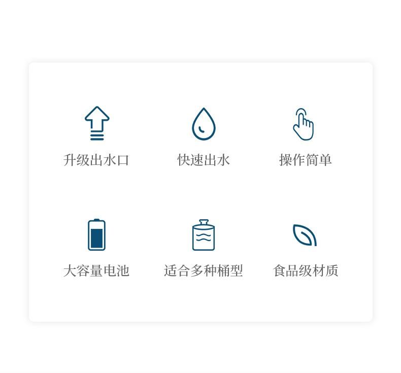 焙乐猫无线电动桶装水抽水器饮水机小型压水器泵家用一键自动吸水器充电式出水器矿泉水水桶纯净水大桶水白色一键出水款