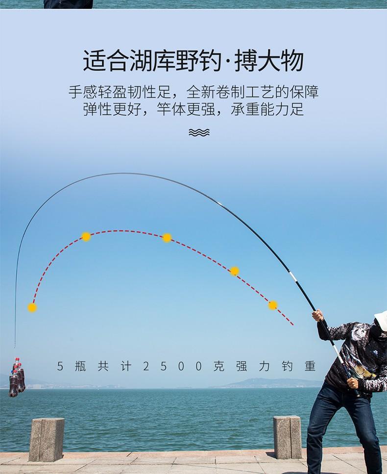 GW光威鱼竿剑手鲤5.4米6.3米28调台钓竿7.2米碳素超轻超硬钓鱼竿手竿鲤鱼杆 5.4米+金属竿止+竿稍+配件