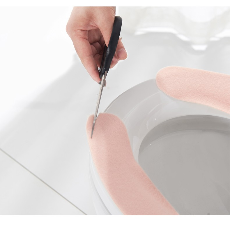 88871-惠益 粘贴式可水洗马桶贴 粘贴马桶垫6对装(颜色随机)-详情图