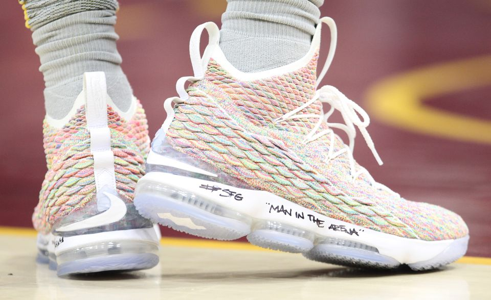release date f2987 e6946 全球购耐克Nike LeBron 15 詹姆斯15代男士高帮气垫缓震篮球鞋 ...