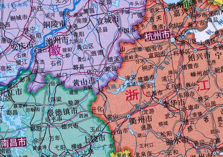 中国地�_1*0.75米 通用版 中国地图出版社