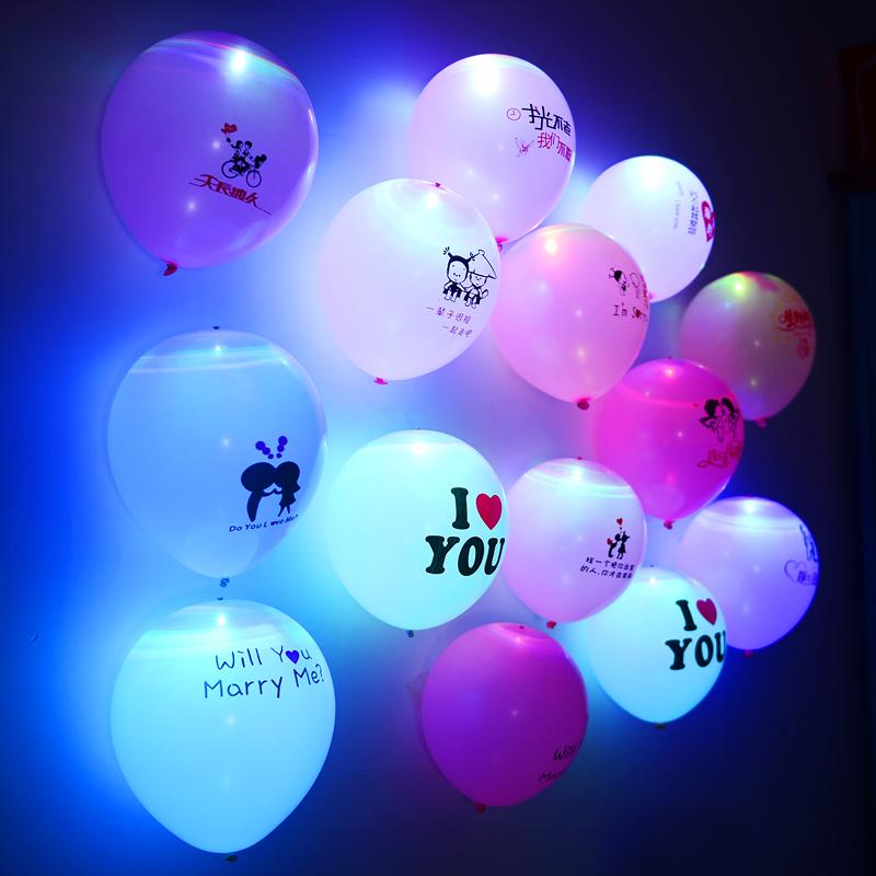 Luminous Balloons LED Lights Birthday Confession Marriage Decoration Romantic Wedding Custom Balloon Arrangement Heart Proposal 15