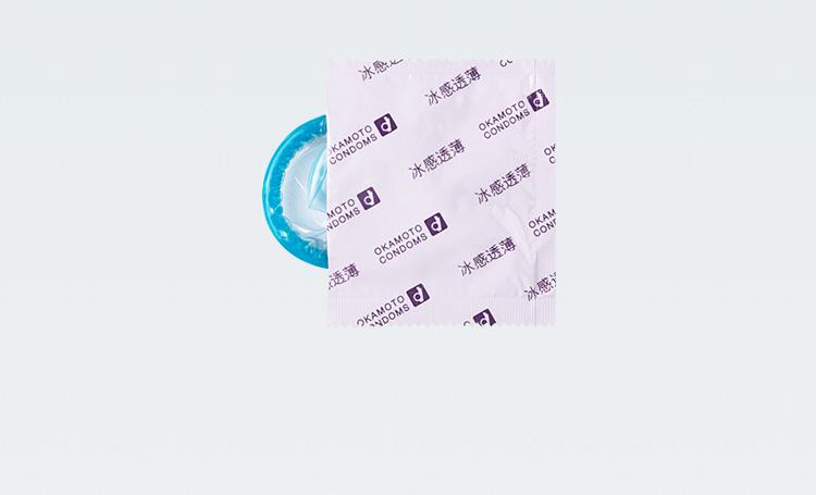 成人用品批发 日本冈本避孕套超薄安全套(冰感透薄)避孕套10片装*12盒/组