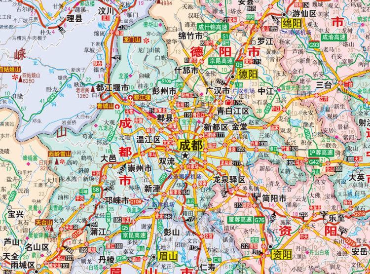 成都市地图_成都市地图全图高清版 _美图美句