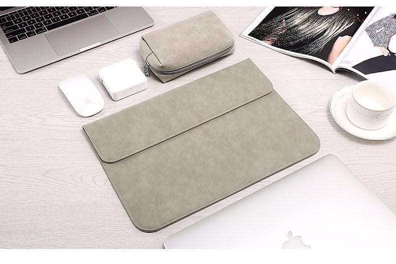 Bao da macbook da lộn trơn 1 màu - ảnh 9
