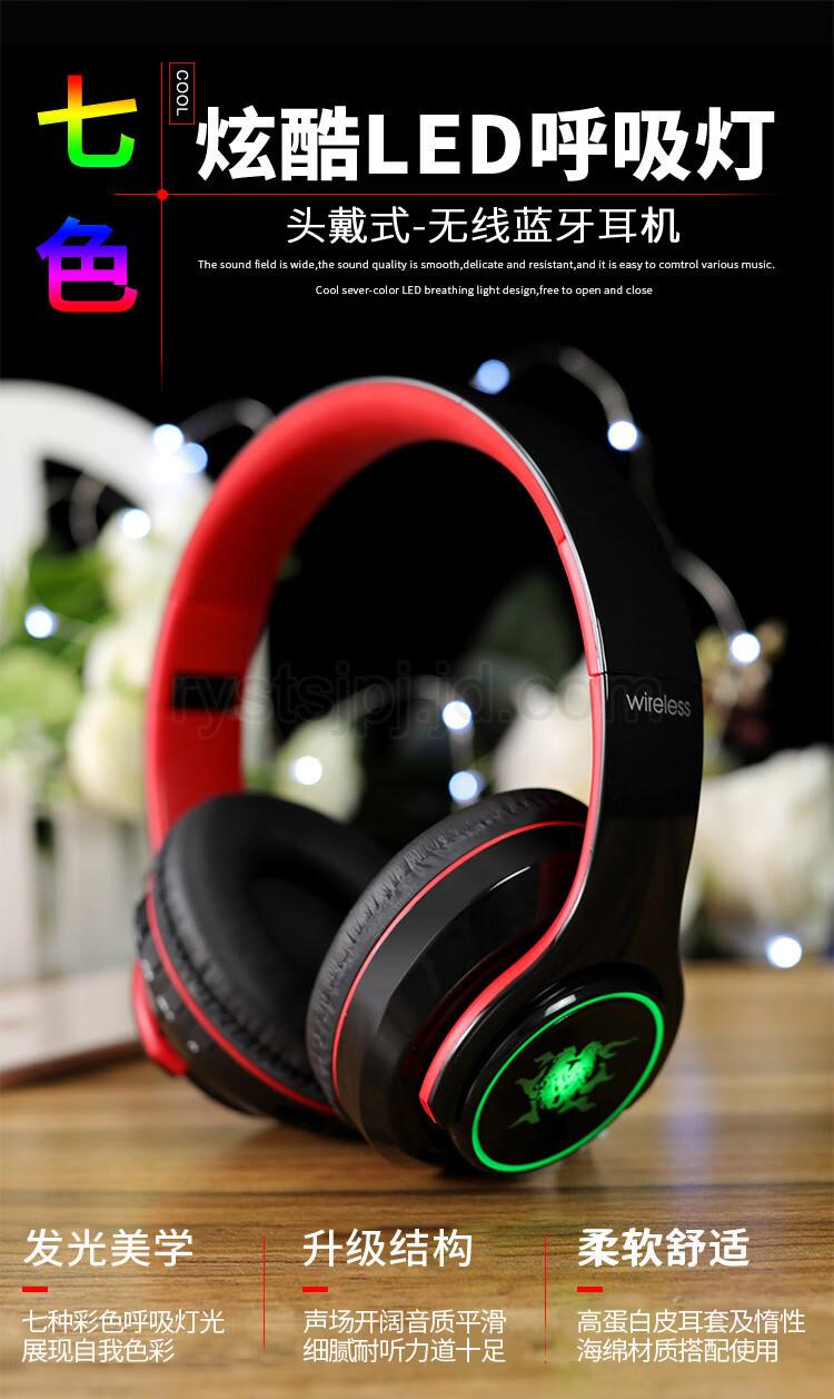Orphyer L5 Ovleng Headphone Ov X11 With Mic Merah