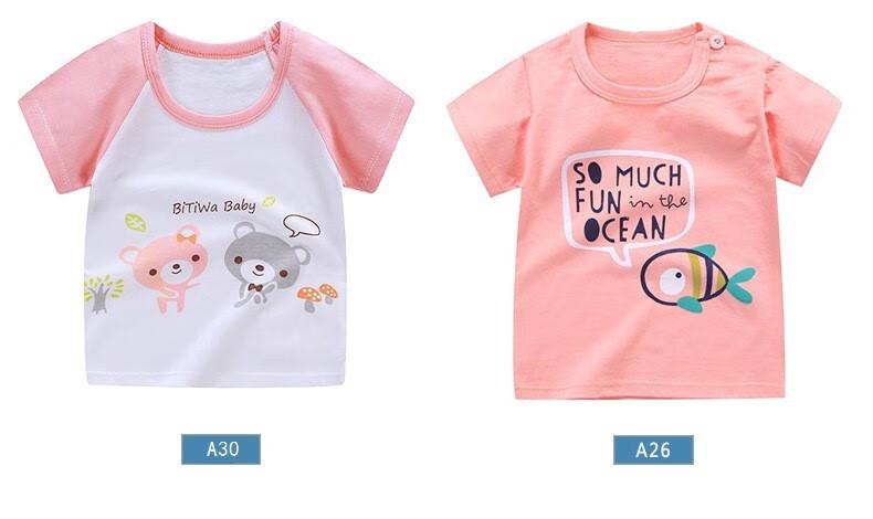 儿童短袖上衣夏款男女童纯棉T恤卡通卫衣童装 A02 130CM