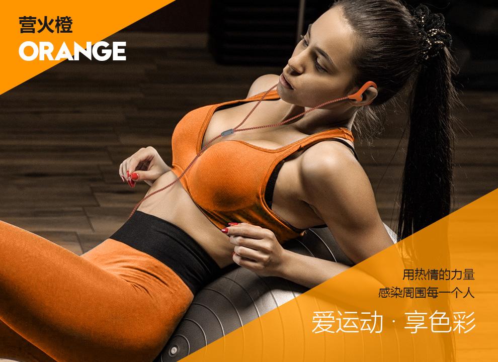 EHOOK 挂耳式耳机 萤火橙orange