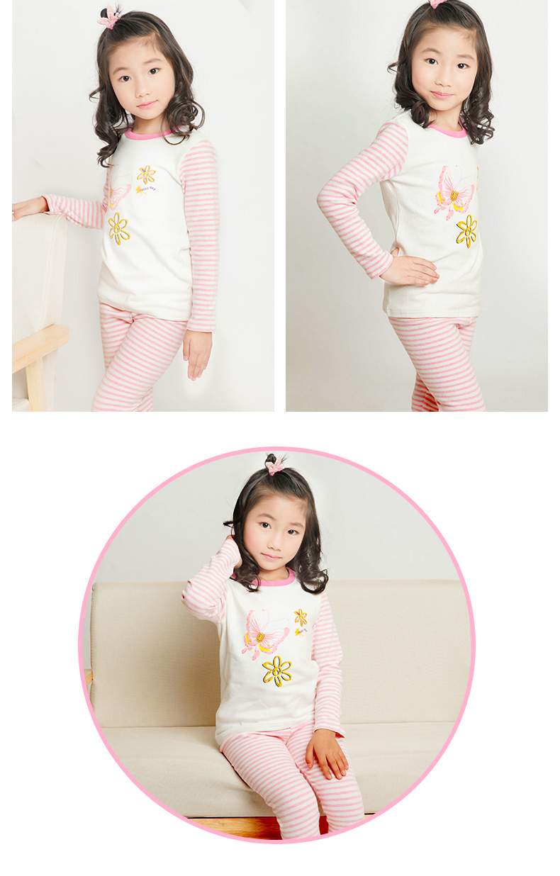 Childrens Home Service Spring And Autumn Cartoon Pajamas Set Men And Women Qiuyi Qiuku Air-Conditioned Service