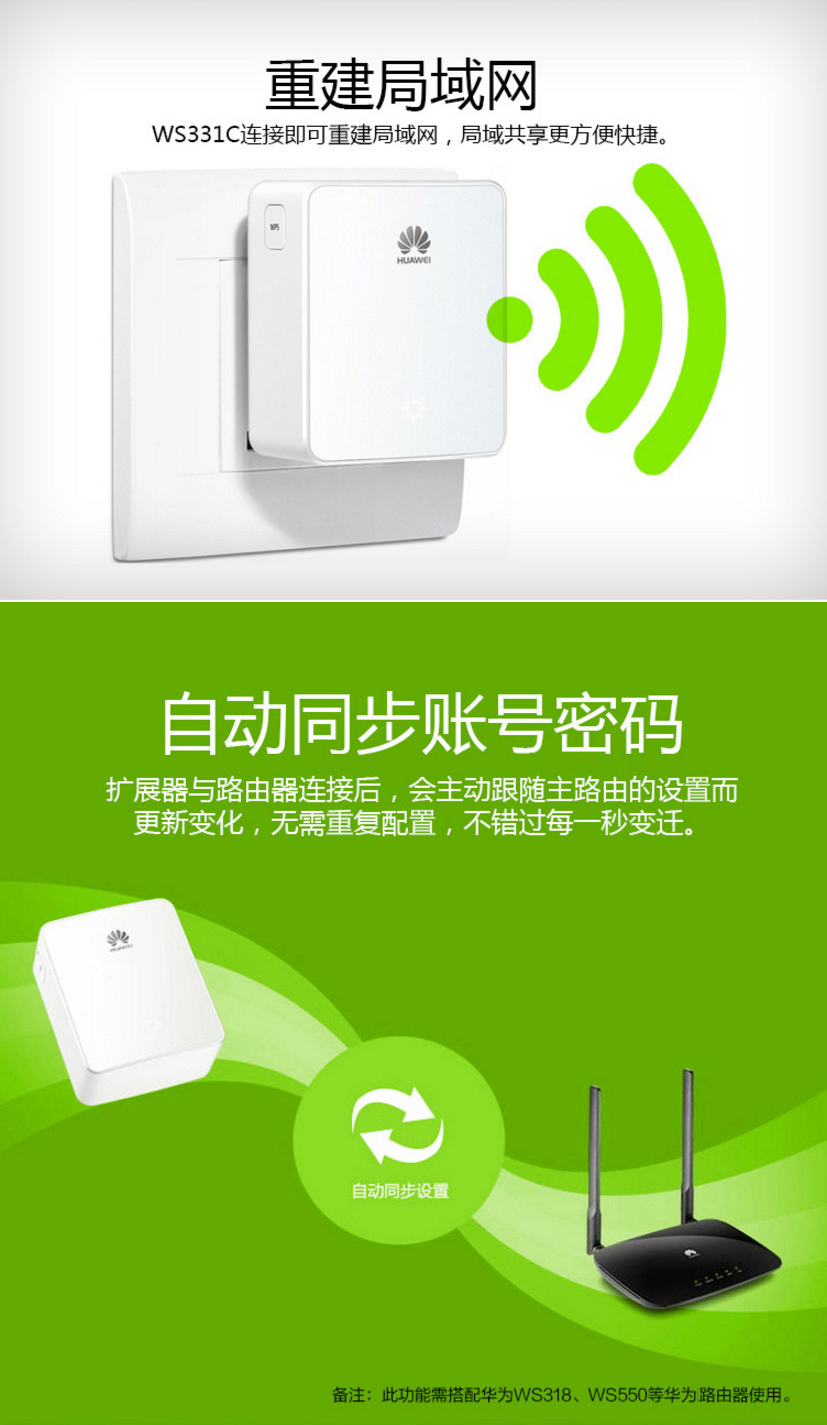 Huawei Signal Amplifier Routing Wireless Wifi Relay Range Extender Ws331c Technical