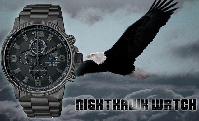 【原裝現貨 展示品 已售~】日本 CITIZEN 星辰 PROMASTER NIGHTHAWK 夜鷹系列 光動能計時腕錶