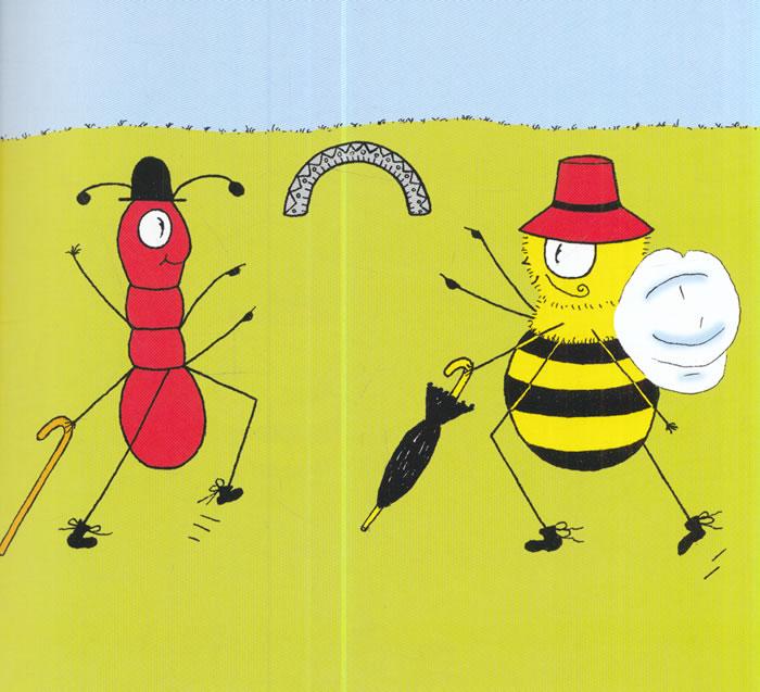 蚂蚁和蜜蜂漫画_蚂蚁和蜜蜂 儿童彩色单词故事书系列 画彩虹