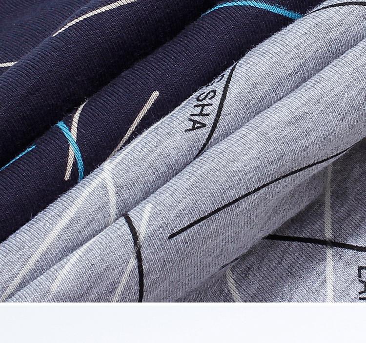 浪莎男士内裤男弹力棉透气平角裤中腰大码四角裤头4条混色经典款175/XL