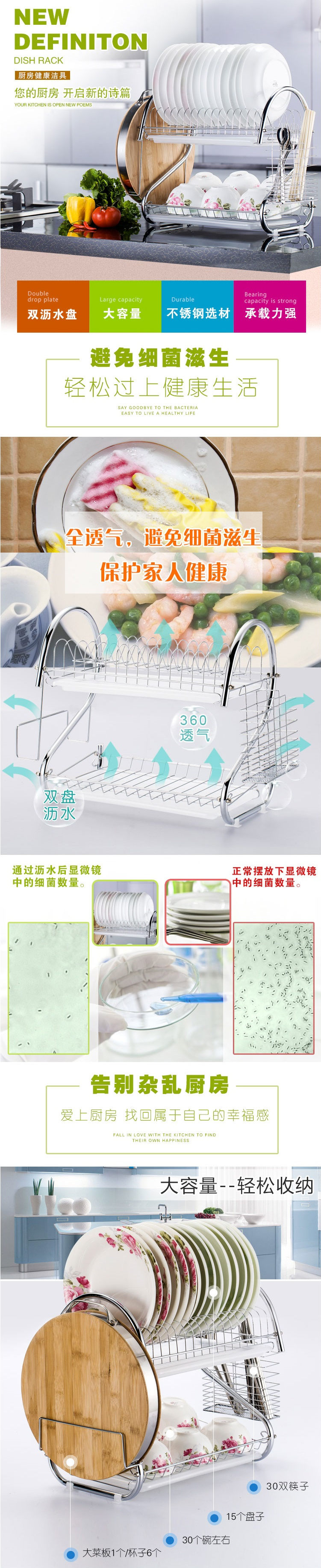 Philippine enjoy the dish rack drain rack kitchen rack 304 stainless ...