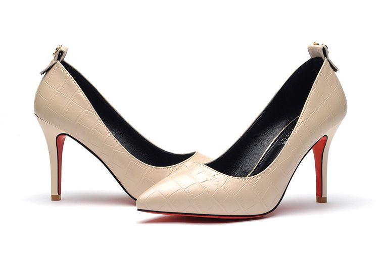 萊卡金頓2016春夏季新款職業高跟鞋跟高8cm尖頭細跟女鞋淺口套腳單鞋圖片