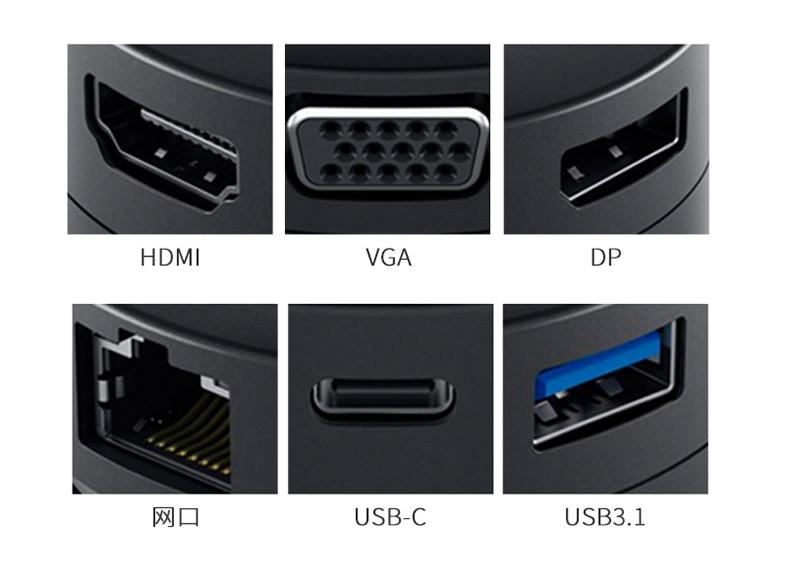 Cáp chuyển đổi  DELL USB C HDMIVGA30 DA200 type c - ảnh 8