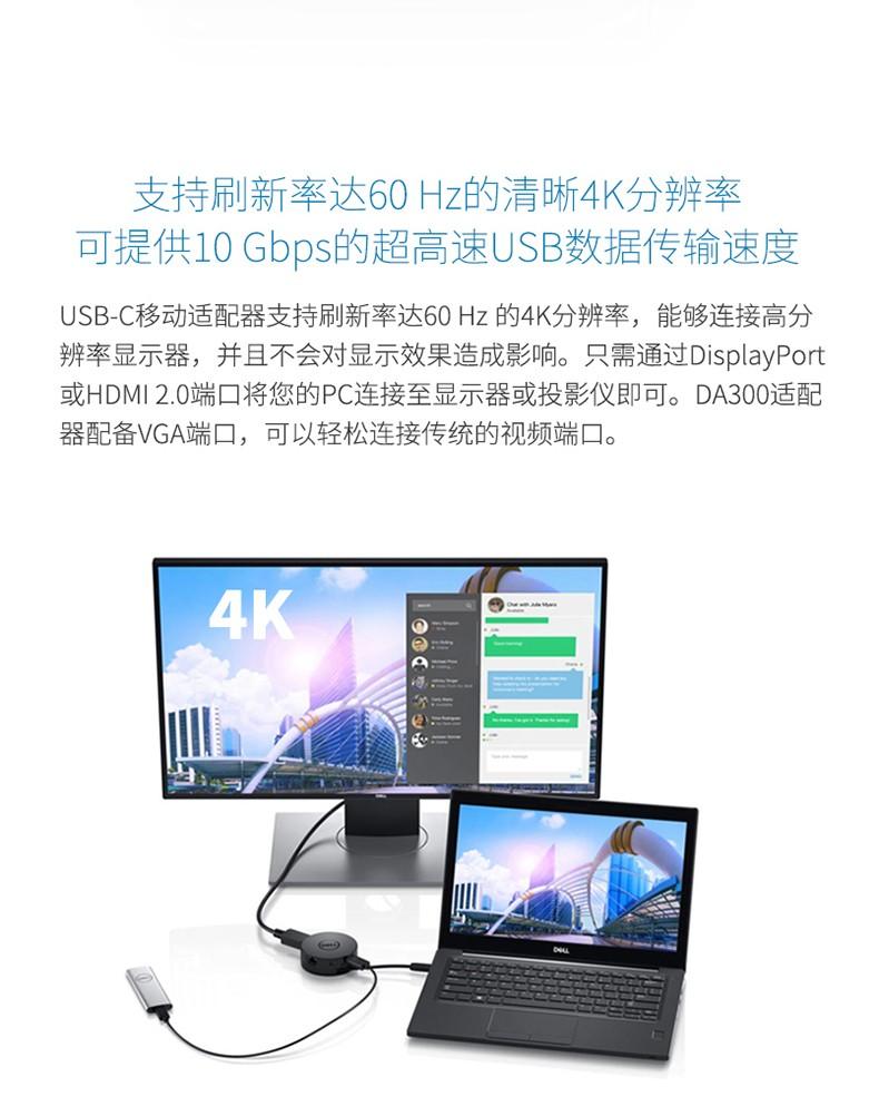 Cáp chuyển đổi  DELL USB C HDMIVGA30 DA200 type c - ảnh 12