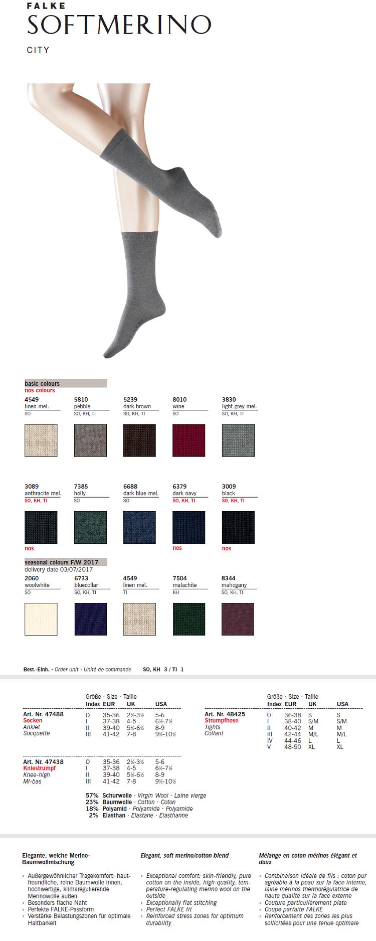 af9e86dacf9 FALKE Soft Merino 奢华美丽诺羊毛连裤袜48425 × 德国原装进口Anthracite ...
