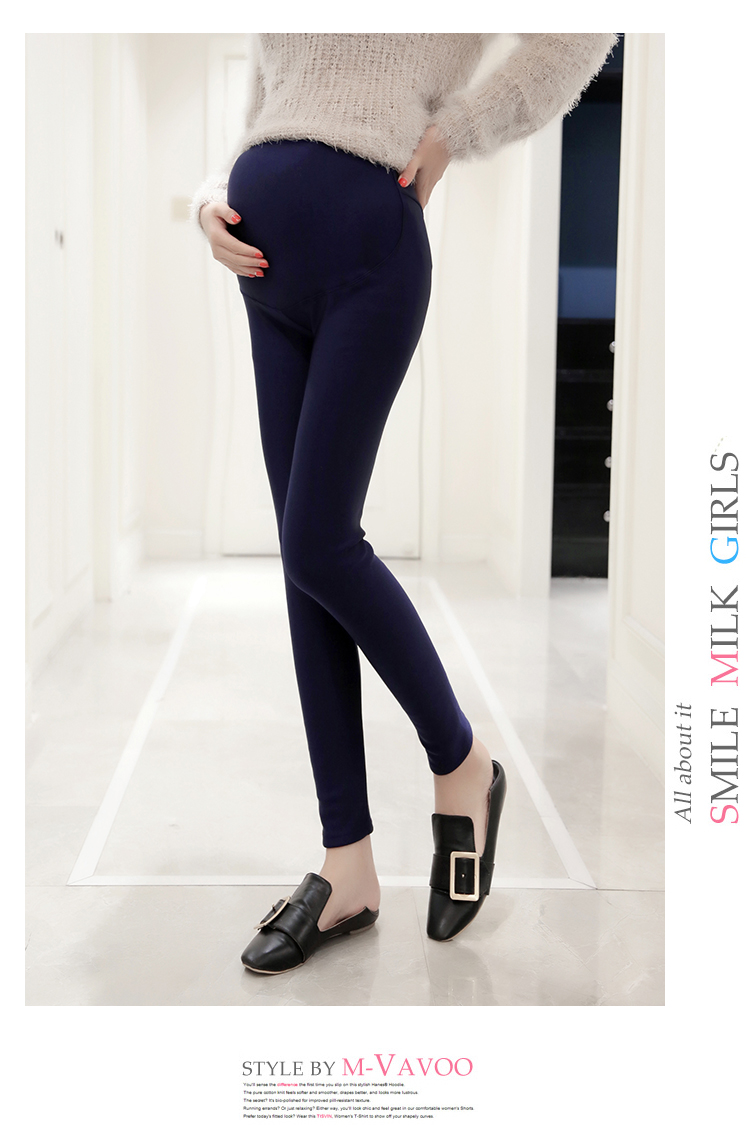 Impression pony pregnant mom dressed belly pants pregnant women dress 2018  spring gloss leggings can adjust pregnant women to the belly pants thin
