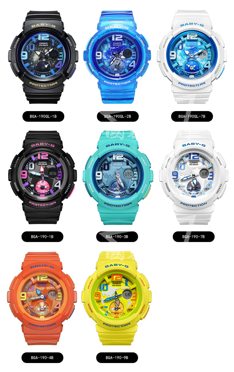 Unlimited Service Casio Watch Baby G Series Fashion Bga 190 1b Technical