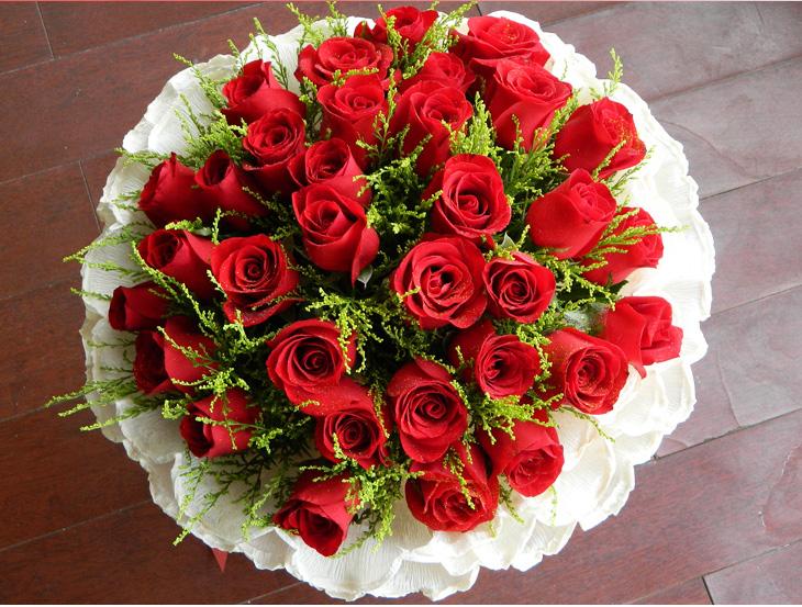 结婚纪念日的图片_维纳斯情人节鲜花速递同城送花33朵99朵红玫瑰生日花束预定玫瑰 ...