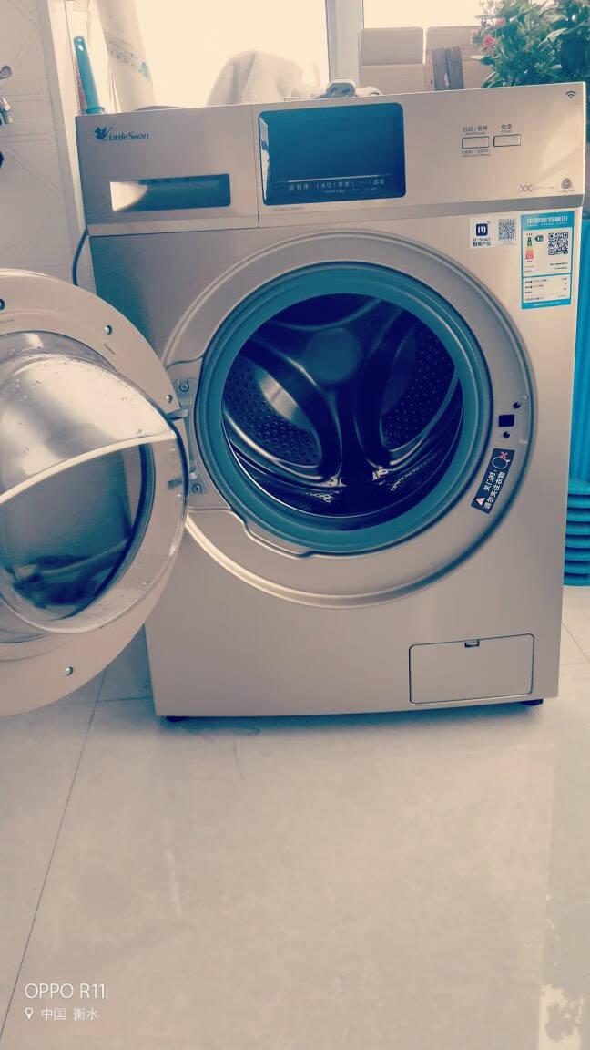 小天鹅洗衣机家用全自动滚筒10公斤kg变频智能家电低音上排水一级能效TG100V120WDG