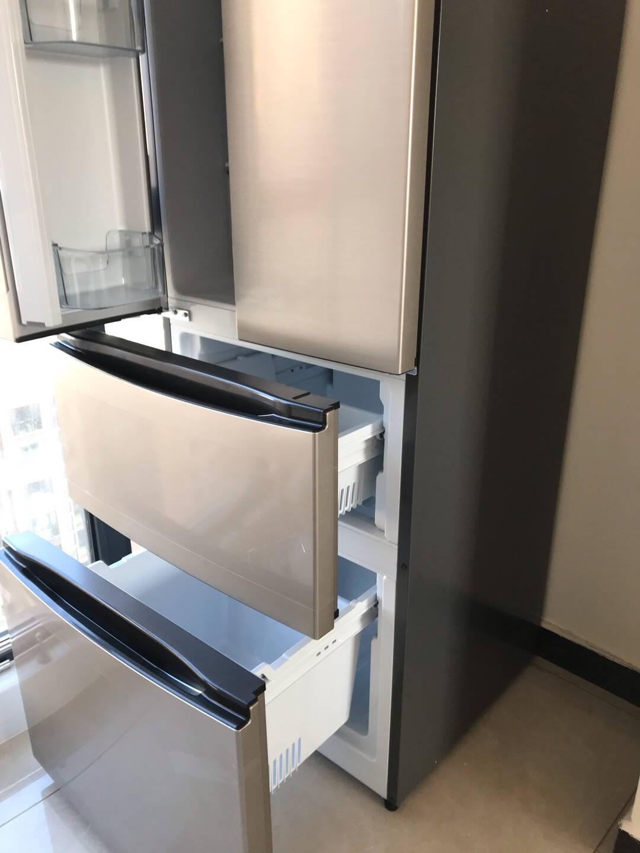 【爆】容声(Ronshen)321L冰箱双开门一级变频家用电冰箱多门BCD-321WD11MP