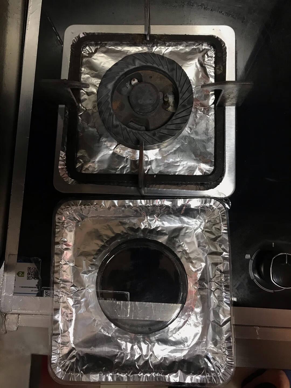 柯锐迩防油防污铝箔炉头纸方形16片煤气灶防燃锡纸灶头纸耐高温防油污炉垫燃气灶防污清洁垫