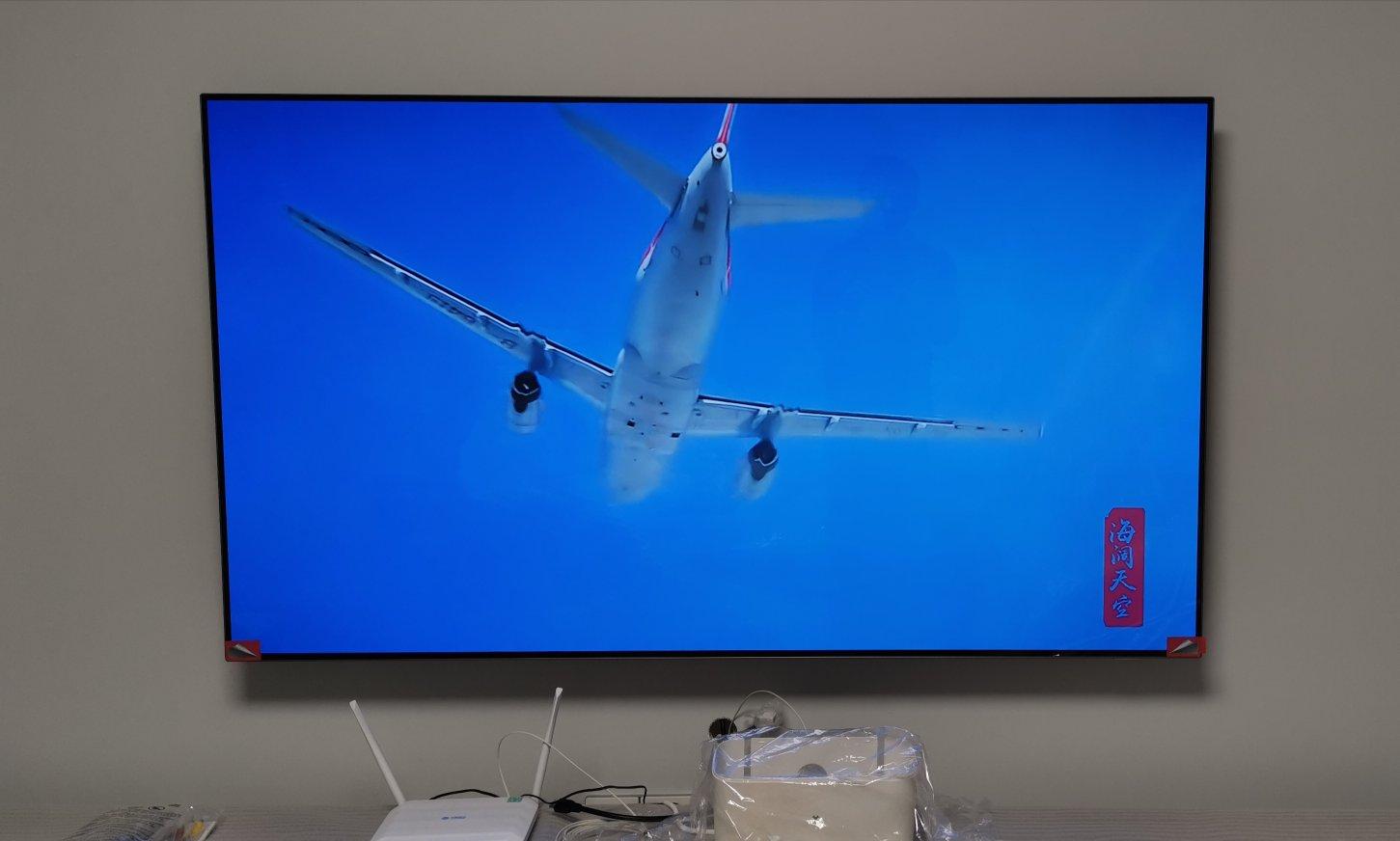 飞利浦65英寸OLED超轻薄电视,家居也搭配高端电视