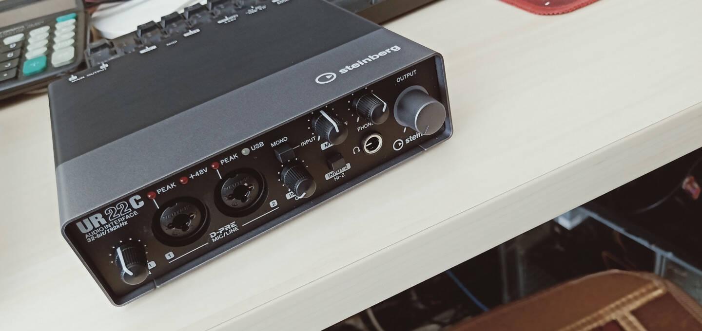 SteinbergYAMAHA雅马哈UR22MKii外置UR22C声卡UR24C录音编曲声卡套装UR22C(标配+赠品)